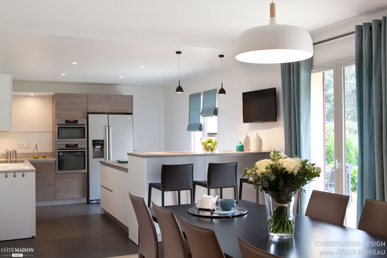Cuisine familiale design, Hauts de Seine, CHRISTIANSEN DESIGN