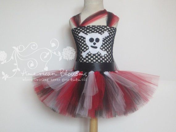 Pirate Costume Tutu Dress Baby Girls Toddler by AmericanBlossoms, $50.00