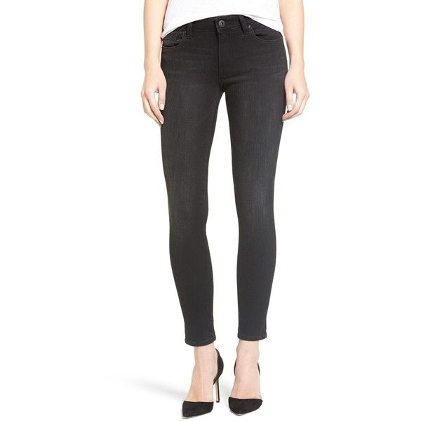 Women's Dl1961 'Emma' Ankle Skinny Jeans ($188) ❤ liked on Polyvore featuring jeans, cement, stretch denim skinny jeans, slim fit jeans, denim skinny jeans, slim stretch jeans and slim cut jeans