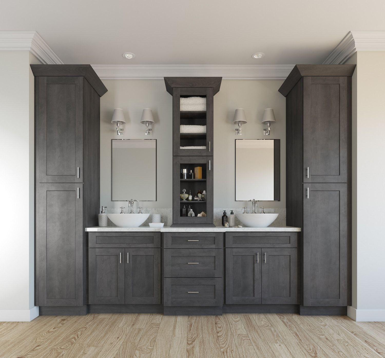 natural grey shaker ready to assemble bathroom vanities on vanity for bathroom id=39888