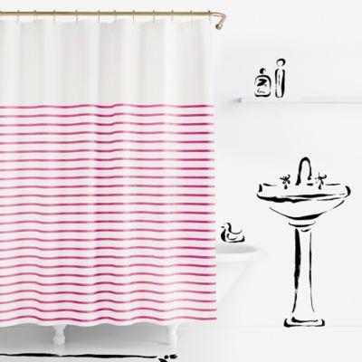 J Queen New York Galileo Shower Curtain Window In Shower Long
