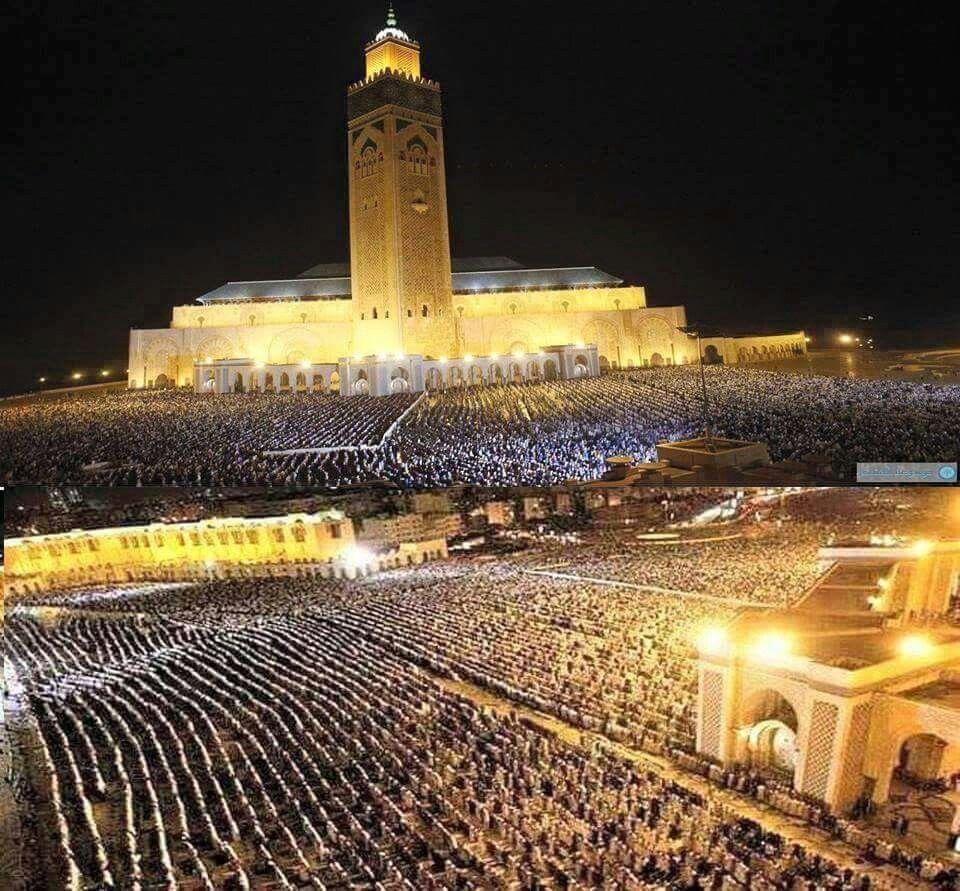 Ramadan 2015....Prieres de Tarawih  a la mosquee Hassan 2 a Casablanca
