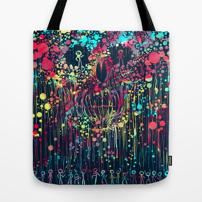 Party calavera Tote Bag by DizzyNicky - $22.00