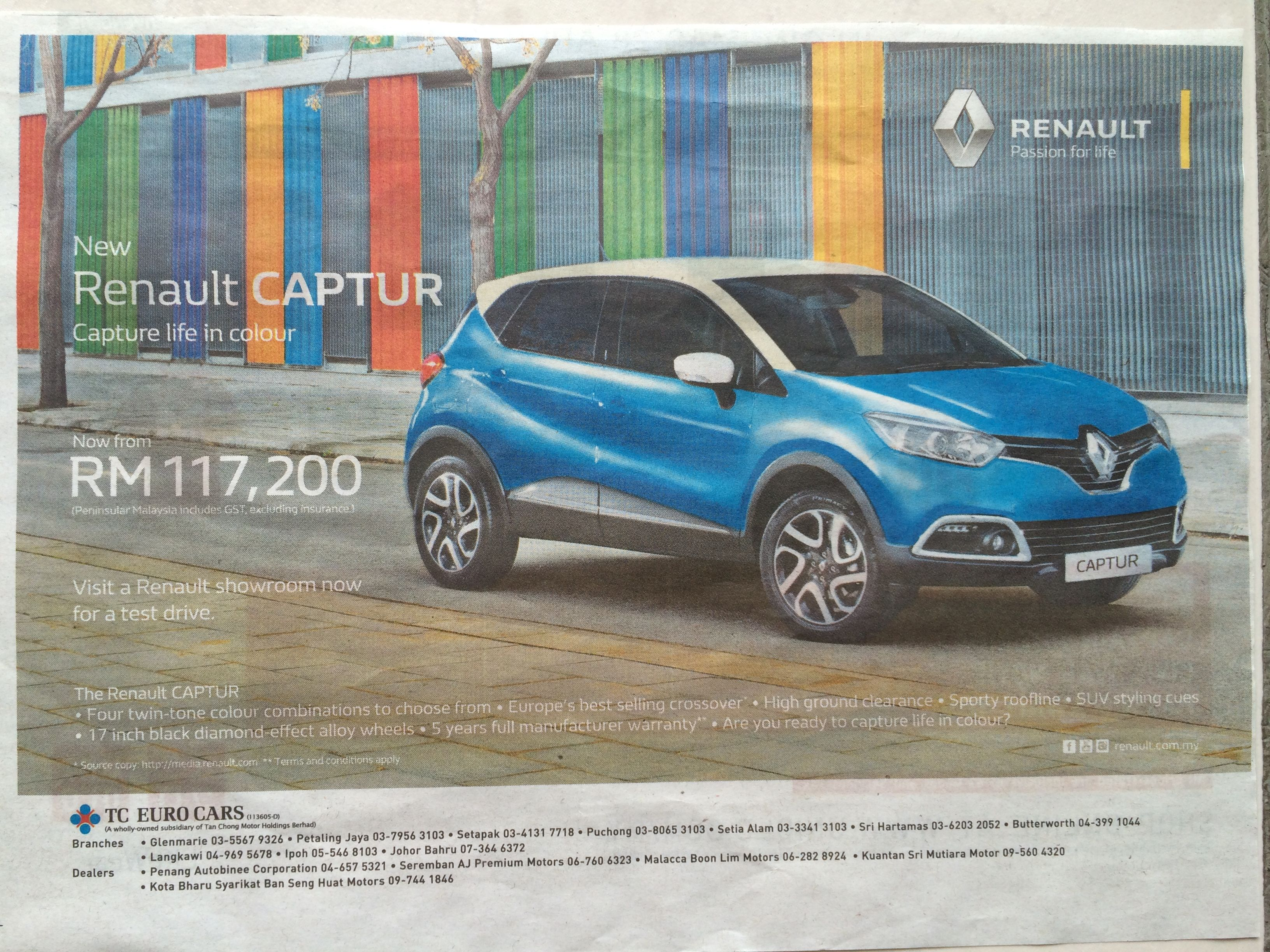 Renault Malaysia Ads Transport Renault Captur New Renault