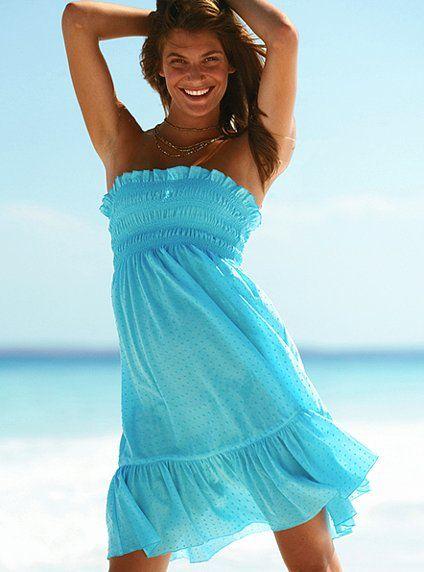 555313268f5d strapless-blue-beach-summer-dress