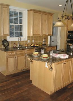 Granite Countertops With Natural Maple Cabinets Google ... on Maple Kitchen Cabinets With Dark Wood Floors Dark Countertops  id=30935