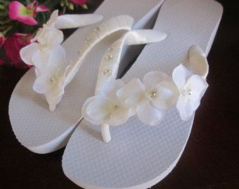 ccac8dab2a4be WEDDING Flip Flops!!.BRIDAL Flip Flops Wedges.Beach Wedding.Bling ...