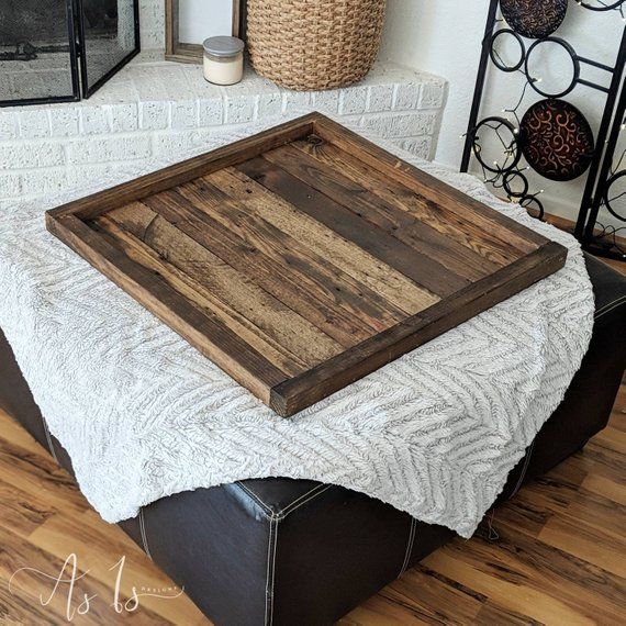 Fabulous Wood Ottoman Tray Oversized Ottoman Coffee Table Large Pdpeps Interior Chair Design Pdpepsorg