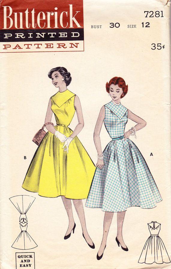 Vintage 1950\'s Teen Rockabilly Dress by CentralSeedVintage, $12.00 ...