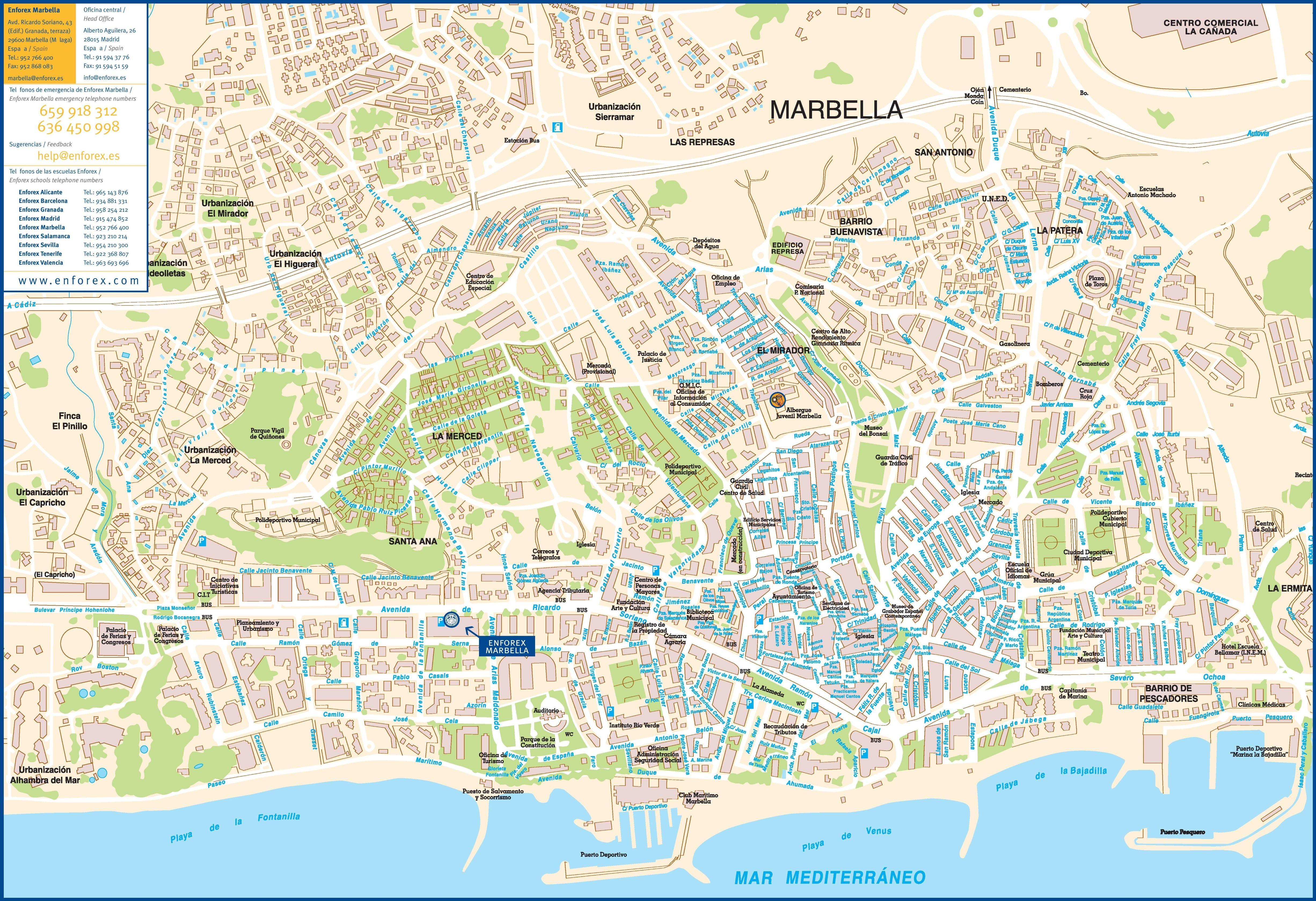 Marbella Tourist Map Reizen