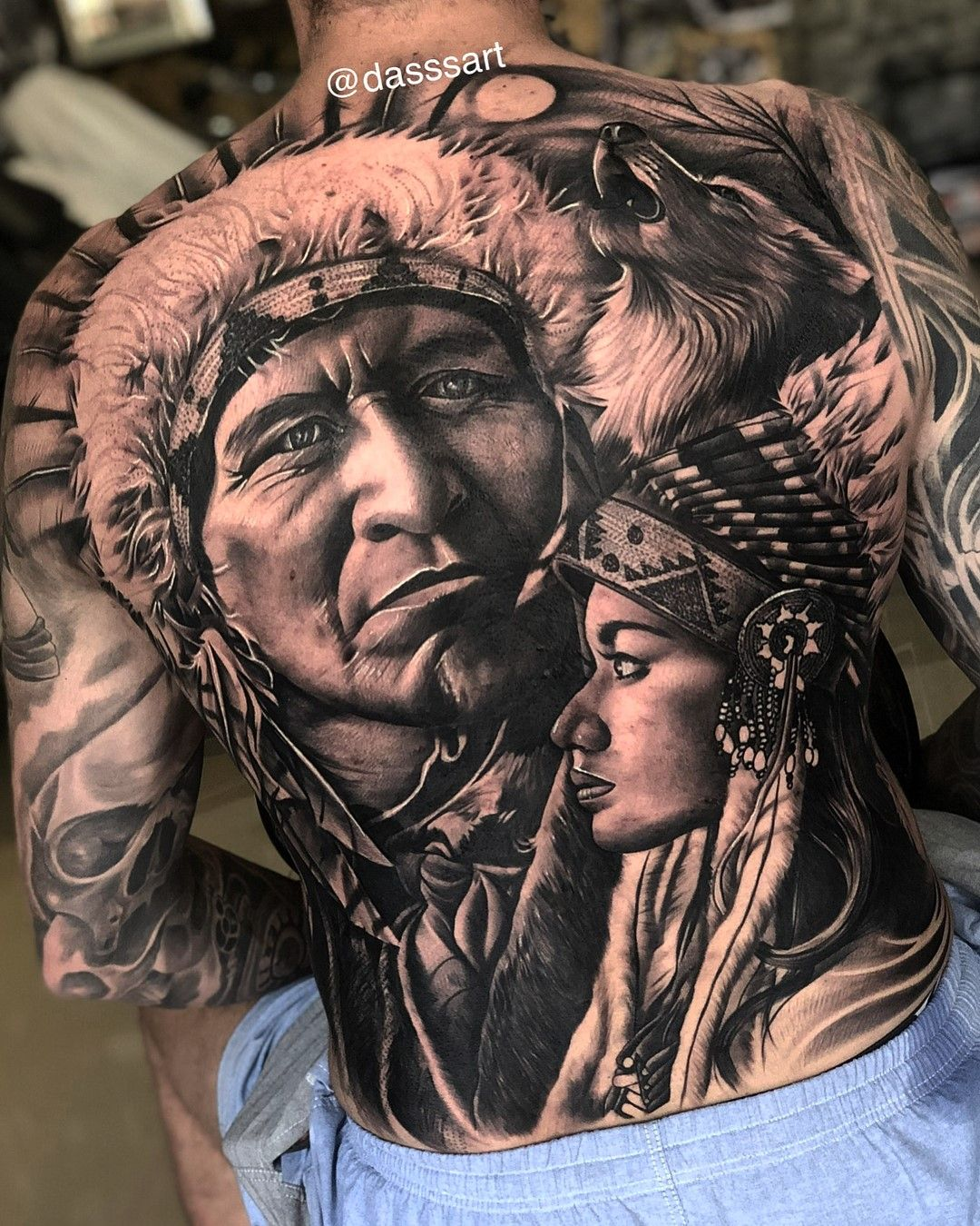 Take A Look At Newest Tattoo Shirt Credit By Dasssart Follow Me To Explore More Inspirationa Native American Tattoos Native Indian Tattoos Indian Tattoo