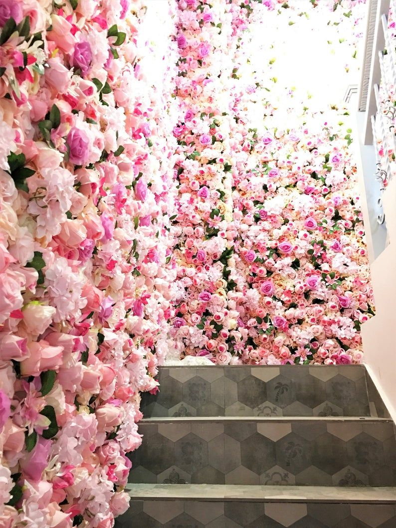 Floral Wall Panels In 2020 Flower Wall Backdrop Wedding Wall Decorations Wall Backdrops