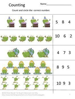 Free Fun With Numbers Preschool Kindergarten Math Center Sampler Numbers Preschool Kindergarten Math Kindergarten Math Center