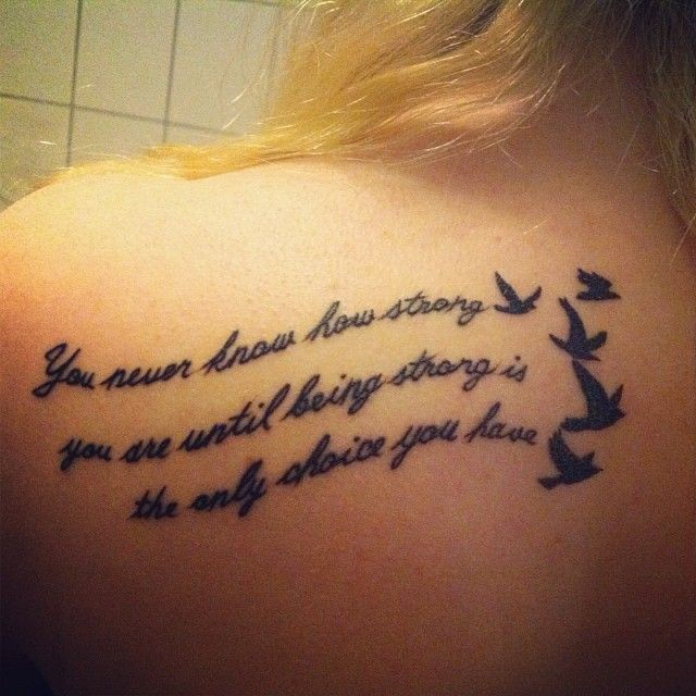 Tattoo Quotes Back: Quote Tattoo For Girls, Back Tattoo. #tattoos