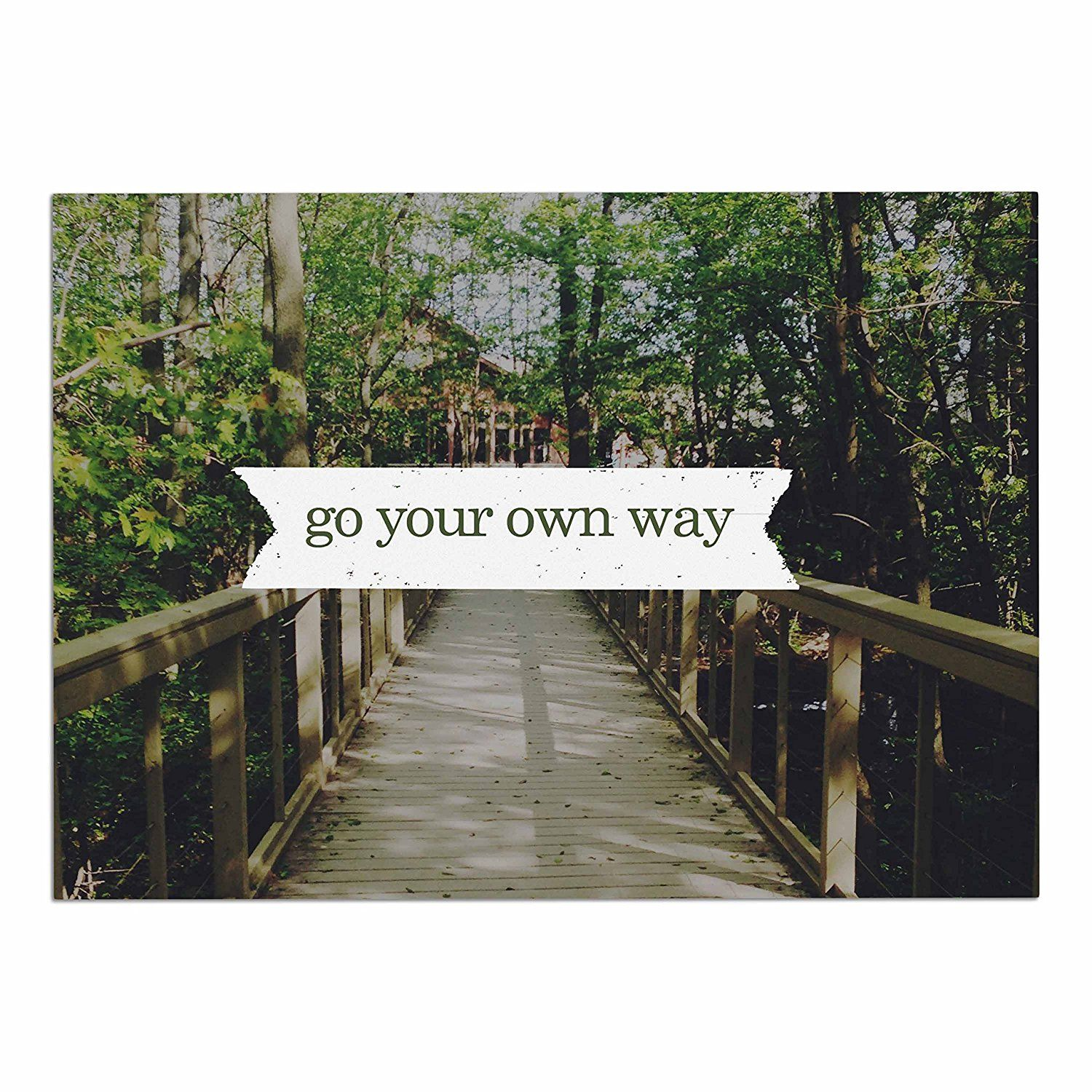KESS InHouse Chelsea Victoria 'Go your Own Way' Nature Green Dog Place Mat, 13' x 18' * Remarkable product available now. (This is an amazon affiliate link. I may earn commission from it)