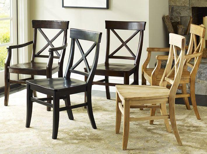 Sillas cruzadas asientos sin tapizar sillas de comedor - Tapizar sillas de madera ...