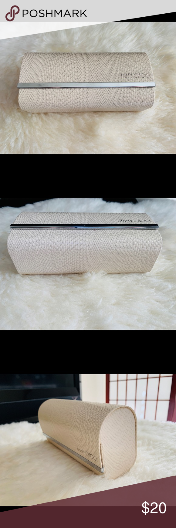 6fac40fc493a Jimmy Choo sunglasses case/ box Jimmy Choo sunglasses box, used few times.  No cleaning cloth. Can be used as beautiful clutch for a party.