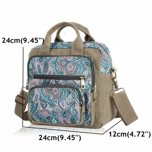 Women Multi-pocket Flower Pattern Handbag Casual National Style Shoulder Bags Backpack is Worth Buying - NewChic