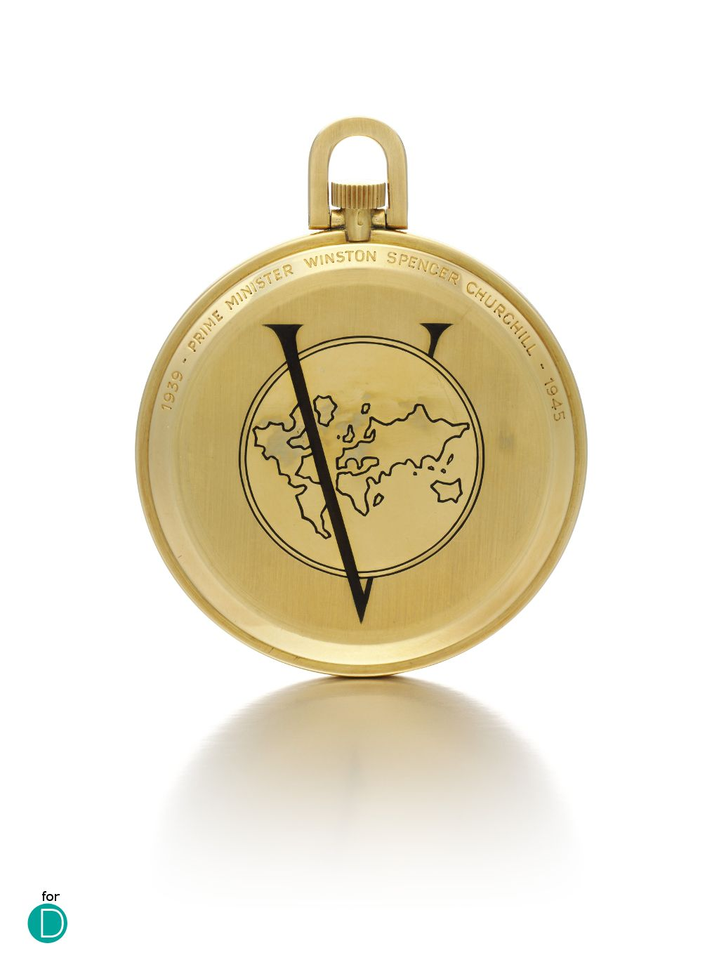 DEPLOYANT: Sotheby's to auction Victory pocket watch given to Sir Winston Churchill