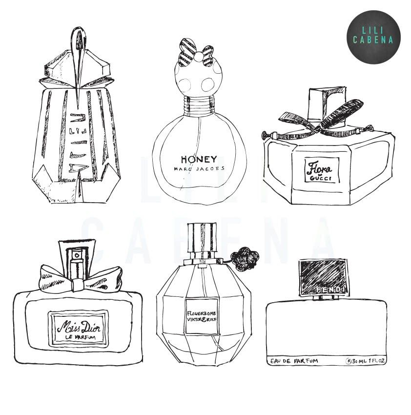 perfume coloring page Google Search