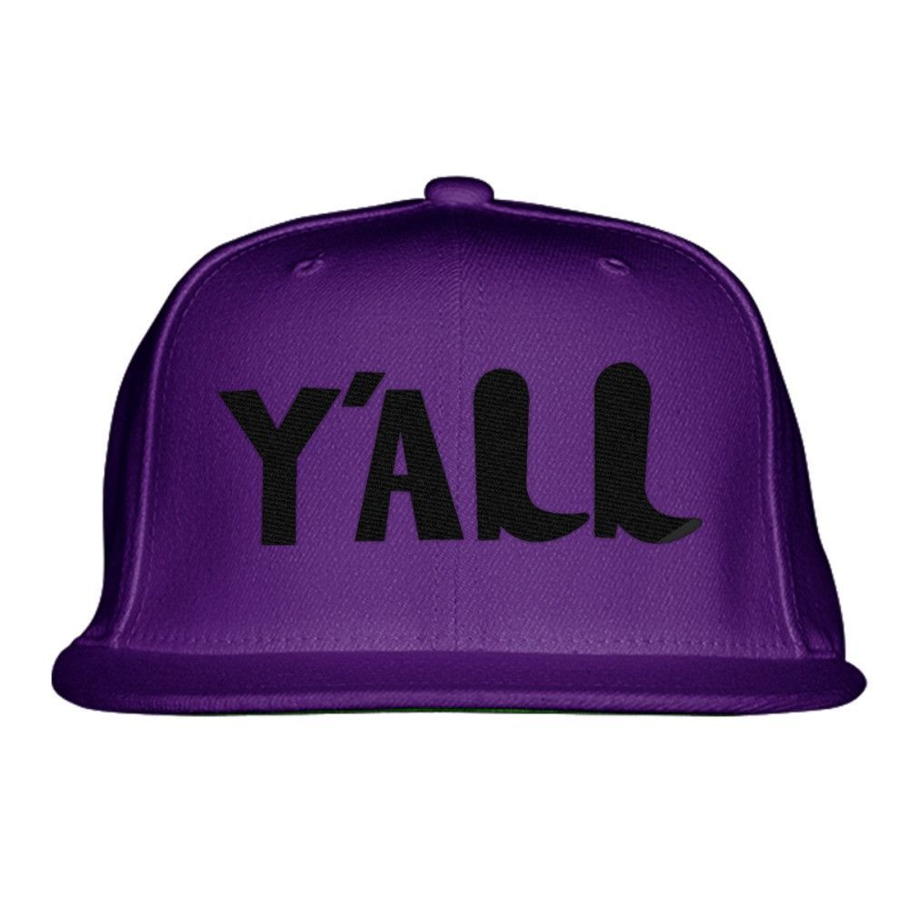 Y'all Embroidered Snapback Hat