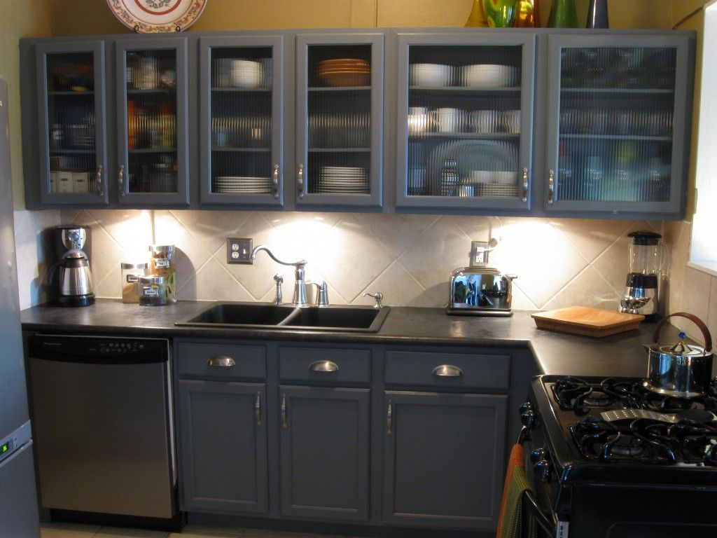 Amusing smalll grey kitchen cabinets collection with black ...