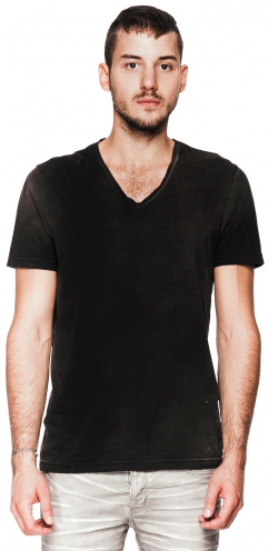 Mens - Tees - Paint Stained V-neck Tee $59.00