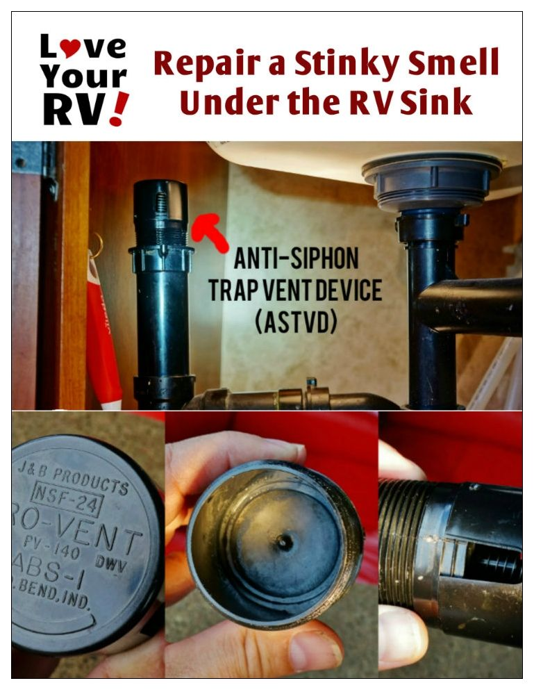 Bad Smell Coming From Under The Rv Sink Rv Maintenance