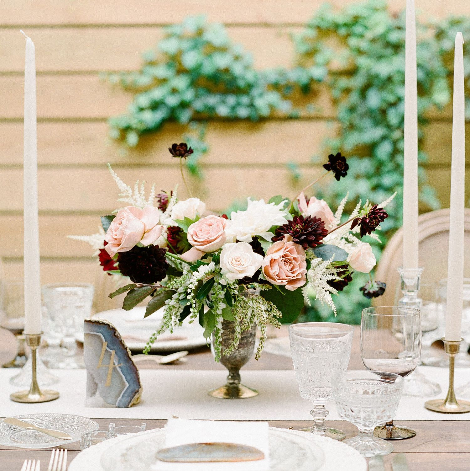 Wedding Flowers Meaning: This Dreamy Wedding Tablescape Gives New Meaning To