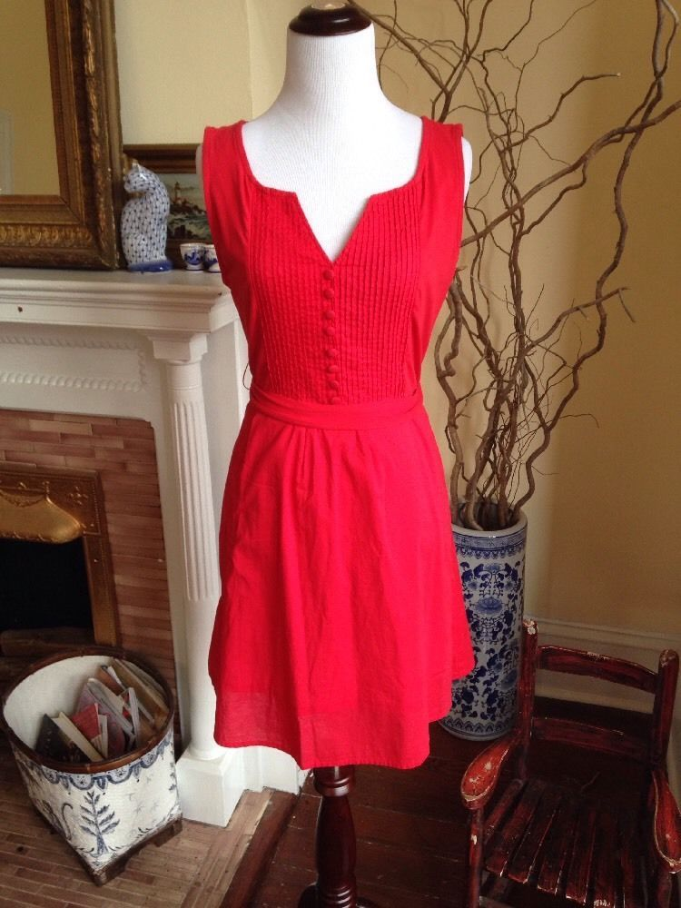 ANTHROPOLOGIE TULLE Red sleeveless above knee dress WOMENS MEDIUM SPRING 6 8 M #Anthropologie #Sheath #Casual #tulle #reddress #dress #spring2015 #anthropologie
