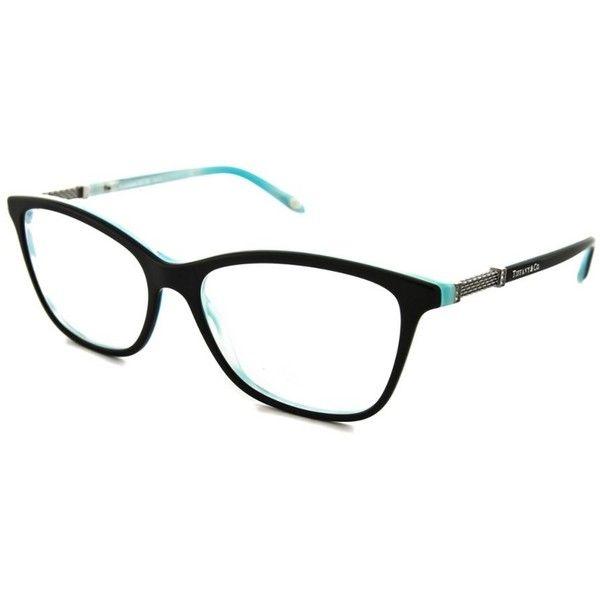 dd6ff840259b Tiffany Tiffany Tf2116b Optical Frames (401239201) (835 BRL) ❤ liked on  Polyvore featuring accessories, eyewear, eyeglasses, black, clear eyeglasses,  ...