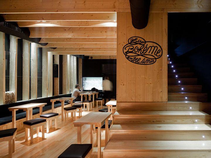 La tendance bois brut en déco intérieure Porto, Architects and Bar