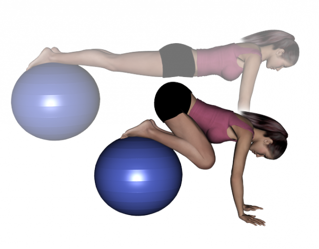 Stability Ball Prone Knee Tuck | abs | Pinterest ...