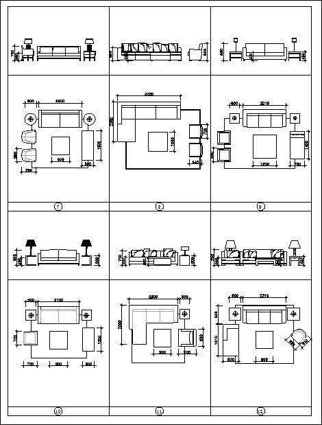 ★【Best sofa blocks and elevation 】 Cad Drawings Download CAD Blocks Urban City Design Architecture Projects Architecture Details│Landscape Design See more about AutoCAD Cad Drawing and Architecture Details