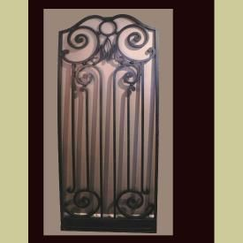 ANTIQUE BEAUX ARTES STYLED IRON GATE FROM CHICAGO