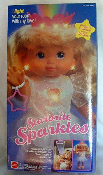 1991 Starbrite Sparkles Doll Mattel NEW in Box PJ Friend