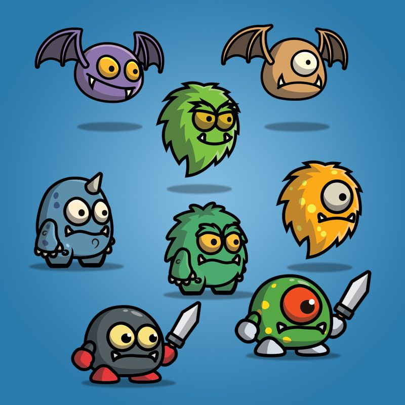 Cartoon Enemy Pack 01 - 2D Monster Character Sprite | Game ...