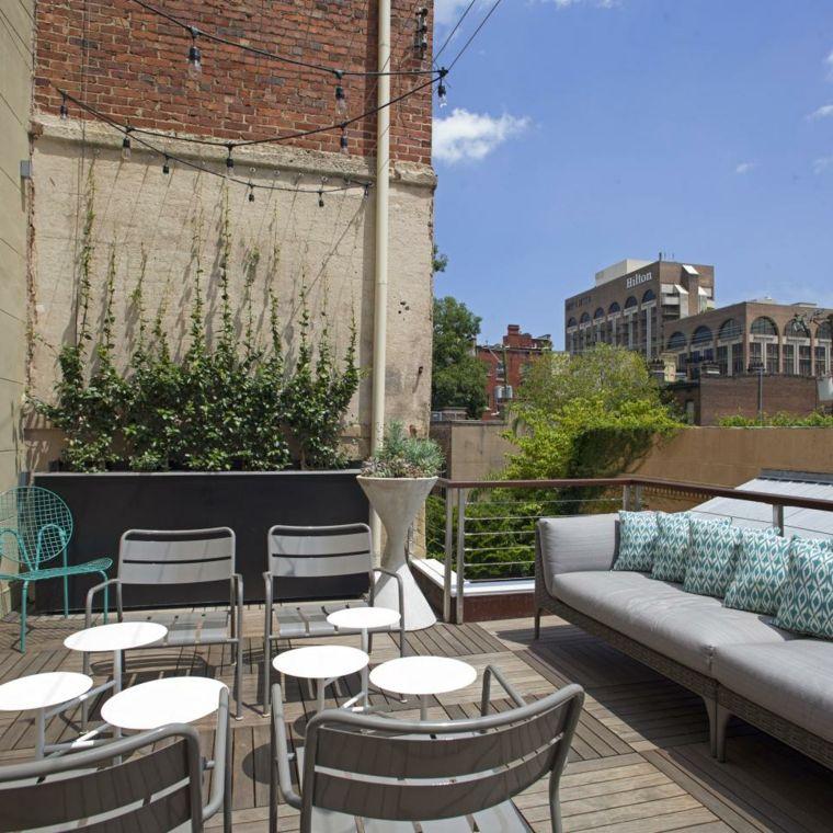 decorar terrazas urbanas soluciones metales Decoración Pinterest - como decorar una terraza