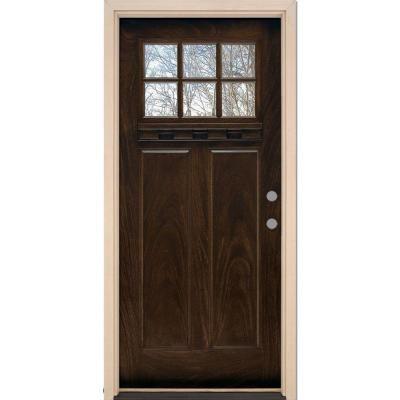 Craftsman Exterior Wood Front Entry Door DbyD4009 diff color