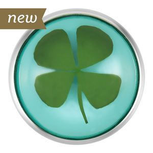Clover Turquoise Snap. 18mm size. S1114--$9.99
