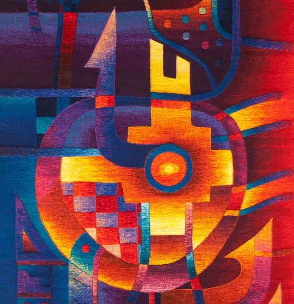 Peruvian Contemporary Tapestry Art By Artist Maximo Laura