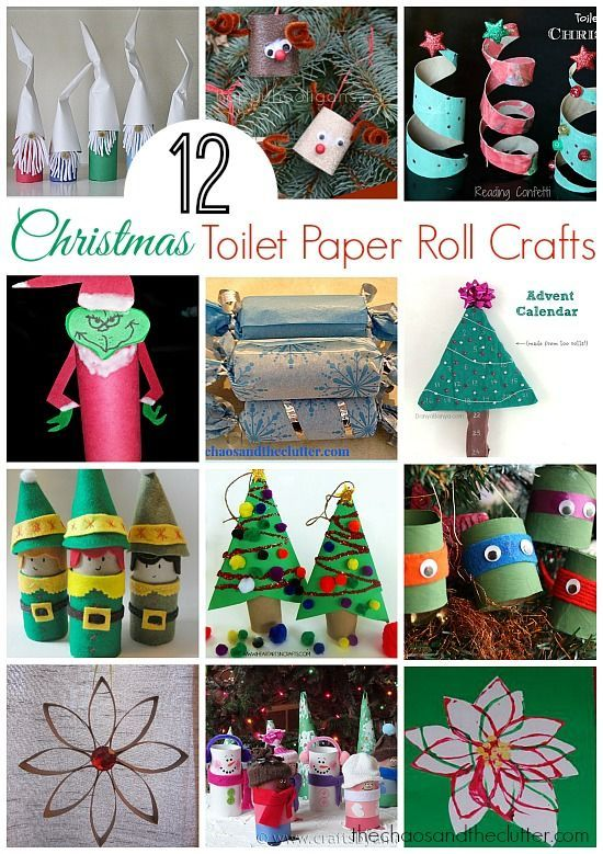 12 Christmas Toilet Paper Roll Crafts The Chaos And The Clutter Christmas Toilet Paper Xmas Crafts Paper Roll Crafts