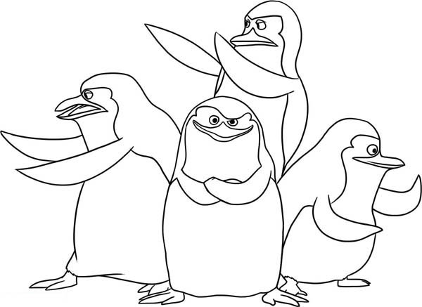 The Gang Of Penguin Of Madagascar Coloring Page Kids Play Color In 2020 Penguin Coloring Pages Animal Coloring Pages Cartoon Coloring Pages