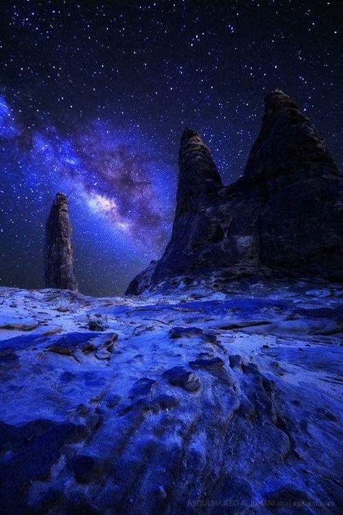 Desert Night Tumblr With Images Nature Beautiful Nature Night Skies