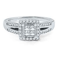 #pingagement and #helzbergdiamonds    Mozart Smart Value® 1/2ct TW Diamond Engagement Ring in 10K Gold