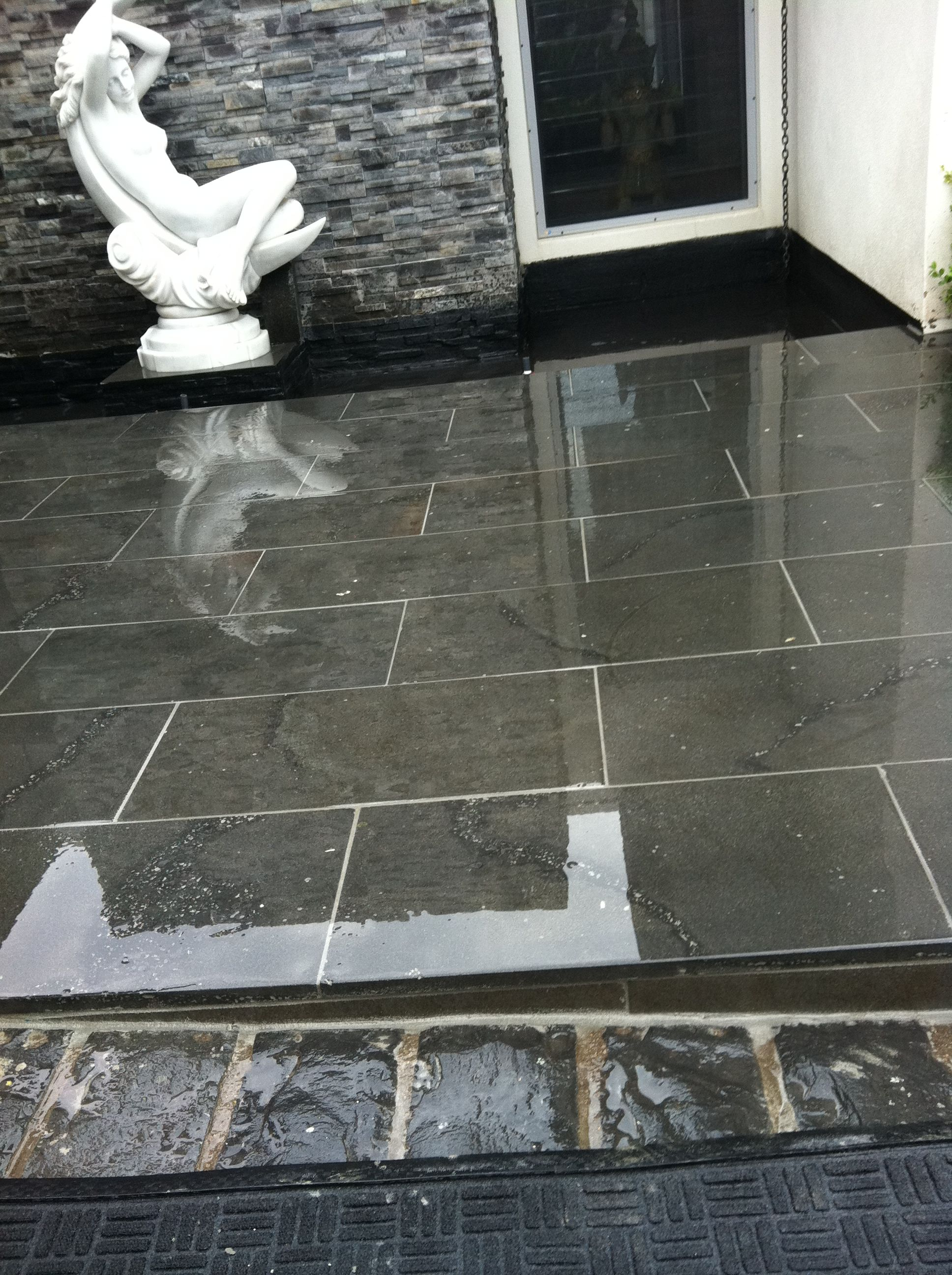 Natural Stone Pavers Front Entrance
