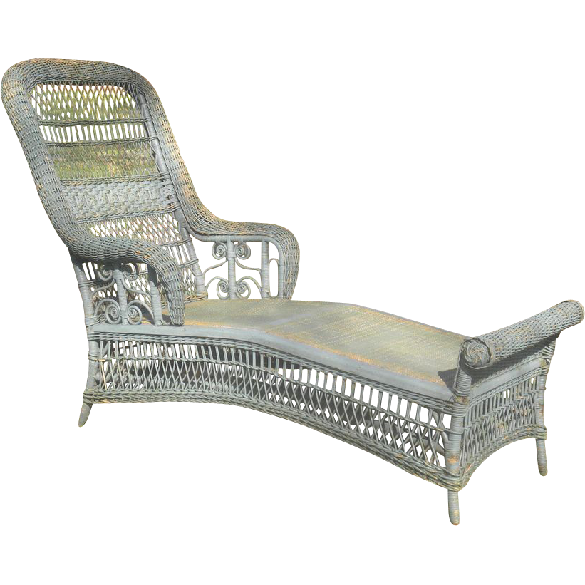 Rare Antique Victorian Wicker Chaise Lounge Circa 1890 S Victorian Wicker Chaise Lounge Wicker Chaise Lounge