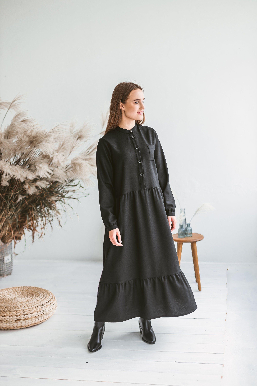 28++ Black ruffle smock dress ideas