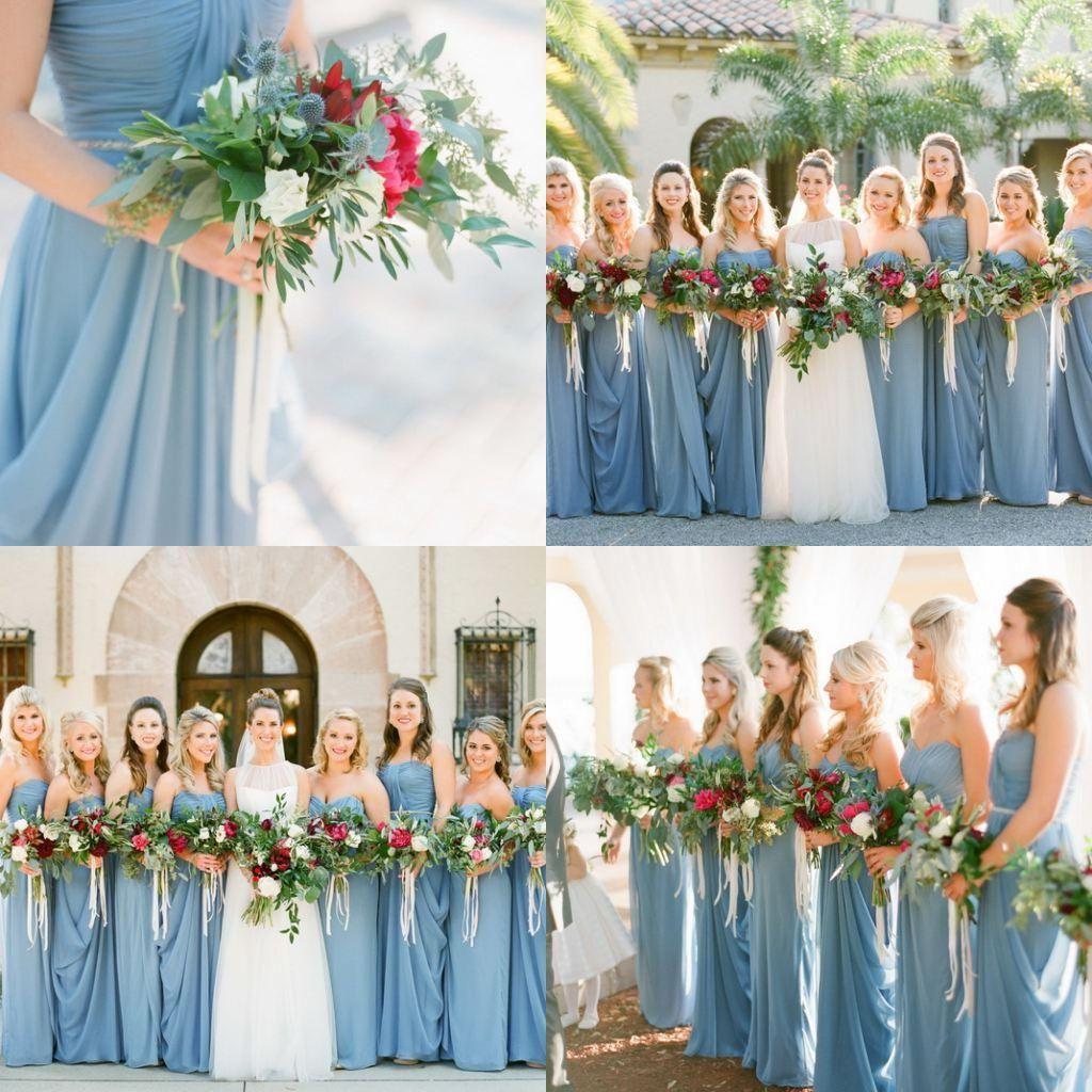 Dusty blue bridesmaid dress misskansasusdusty