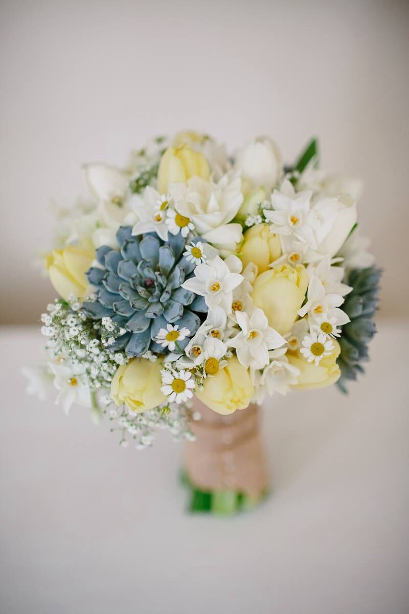 Succulent and yellow bouquet wedding inspiration pinterest succulent and yellow bouquet izmirmasajfo